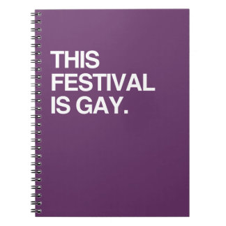 This festival is gay notebook