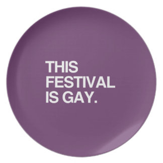 This festival is gay plate