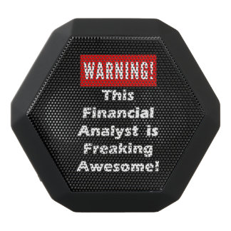 This Financial Analyst is Freaking Awesome! Black Bluetooth Speaker