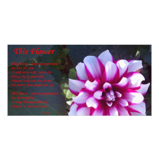 This Flower Customized Photo Card
