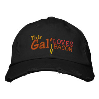 This Gal' Loves Bacon Embroidered Baseball Cap