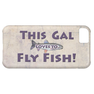 This Gal Loves to Fly Fish! Trout Fly Fishing iPhone 5C Cover