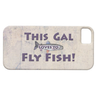 This Gal Loves to Fly Fish! Trout Fly Fishing iPhone SE/5/5s Case
