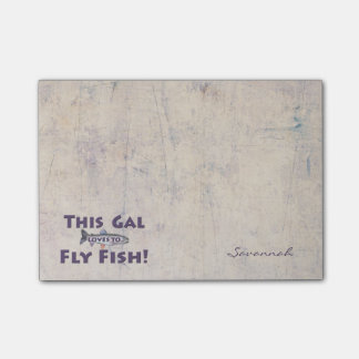 This Gal Loves to Fly Fish! Trout Fly Fishing Post-it® Notes