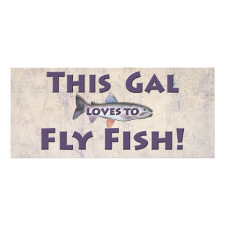 This Gal Loves to Fly Fish! Trout Fly Fishing Rack Card