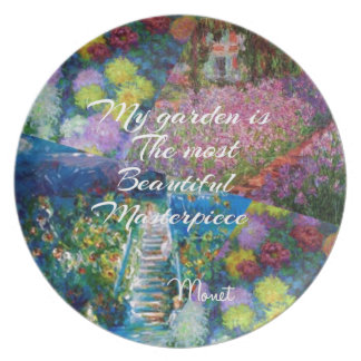 This garden is a masterpiece plate