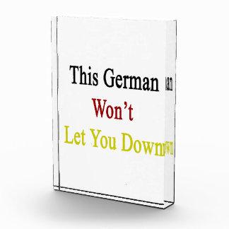 This German Won't Let You Down Award