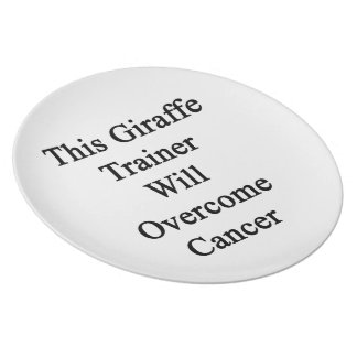 This Giraffe Trainer Will Overcome Cancer Dinner Plates