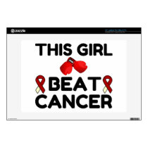 """THIS GIRL BEAT CANCER 13"""" LAPTOP DECAL"""