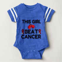 THIS GIRL BEAT CANCER BABY BODYSUIT