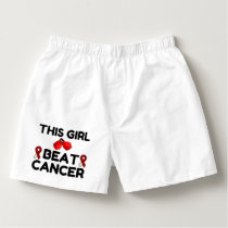 THIS GIRL BEAT CANCER BOXERS