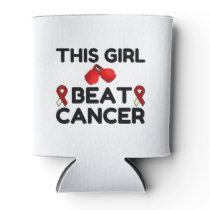 THIS GIRL BEAT CANCER CAN COOLER