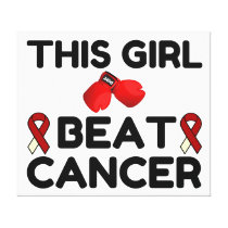 THIS GIRL BEAT CANCER CANVAS PRINT