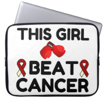 THIS GIRL BEAT CANCER COMPUTER SLEEVE