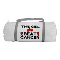 THIS GIRL BEAT CANCER DUFFLE BAG