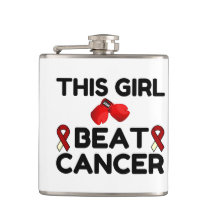 THIS GIRL BEAT CANCER FLASK