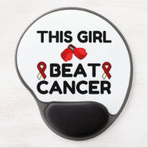 THIS GIRL BEAT CANCER GEL MOUSE PAD