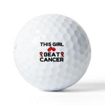 THIS GIRL BEAT CANCER GOLF BALLS
