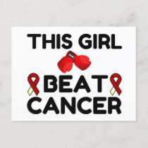 THIS GIRL BEAT CANCER HOLIDAY POSTCARD