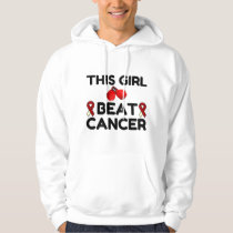 THIS GIRL BEAT CANCER HOODIE