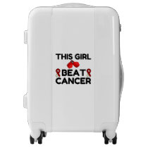 THIS GIRL BEAT CANCER LUGGAGE