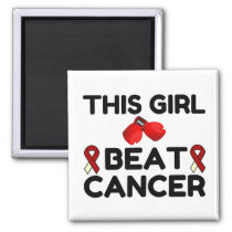 THIS GIRL BEAT CANCER MAGNET