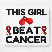 THIS GIRL BEAT CANCER MOUSE PAD