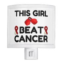 THIS GIRL BEAT CANCER NIGHT LIGHT
