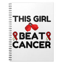 THIS GIRL BEAT CANCER NOTEBOOK