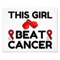 THIS GIRL BEAT CANCER PHOTO PRINT
