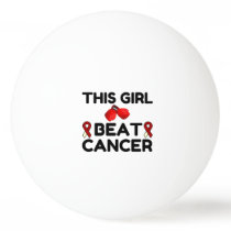 THIS GIRL BEAT CANCER PING PONG BALL
