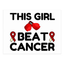 THIS GIRL BEAT CANCER POSTCARD