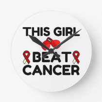 THIS GIRL BEAT CANCER ROUND CLOCK