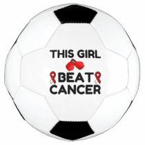 THIS GIRL BEAT CANCER SOCCER BALL