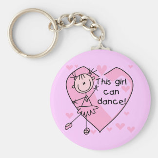 This Girl Can Dance T-shirts and Gifts Basic Round Button Keychain