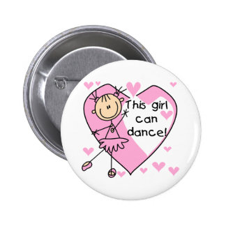 This Girl Can Dance T-shirts and Gifts Button