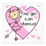This Girl Can Dance T-shirts and Gifts Custom Announcement
