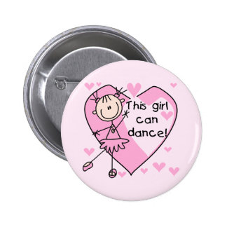 This Girl Can Dance T-shirts and Gifts Pinback Button