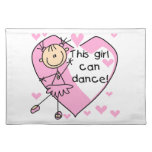 This Girl Can Dance T-shirts and Gifts Cloth Placemat