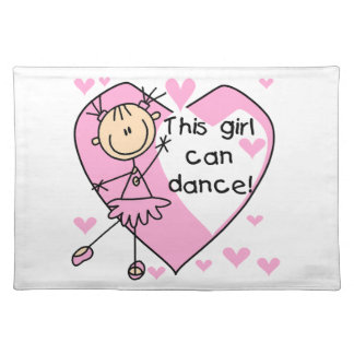 This Girl Can Dance T-shirts and Gifts Placemat