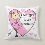 This Girl Can Dance T-shirts and Gifts Throw Pillow