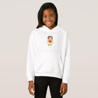 This girl has a big heart hoodie