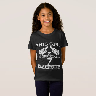 This Girl Is Officially 7 Years Old T-Shirt