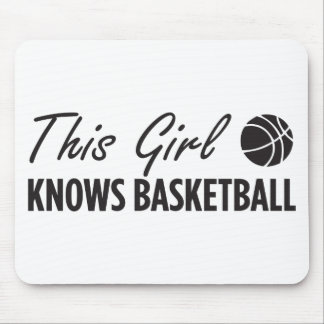This Girl Knows Basketball Mouse Pad