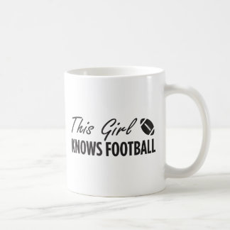 This Girl Knows Football Classic White Coffee Mug