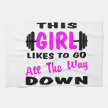 This Girl Likes To Go All The Way Down Hand Towel