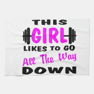 This Girl Likes To Go All The Way Down Kitchen Towel