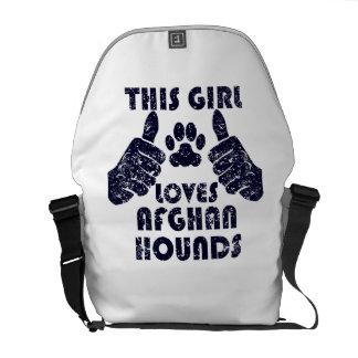 This Girl Loves Afghan Hounds Messenger Bag