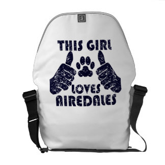 This Girl Loves Airedales Courier Bags