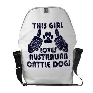 This Girl Loves Australian Cattle Dogs Messenger Bag